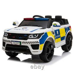 12V Electric Kid Ride On Police Car 2.4G Siren Opening Side Door Remote Control