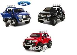 12v Ford Ranger Pickup Kids Electric Ride On Truck 2 Seater + Remote Control