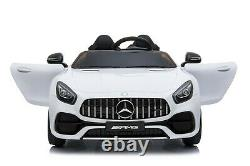 12v Mercedes Gt R Two Seater Kids Electric Ride On Car + Parental Remote Control