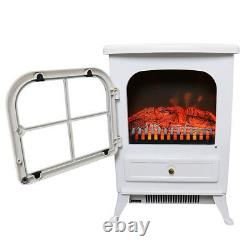 1850W Electric Fireplace Heater Fire Living Room Log Burning Flame Effect Stove