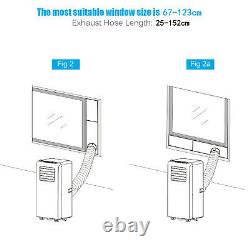 1,0000 BTU Portable Air Conditioner 4 Modes With LED Display & Remote Control 24H