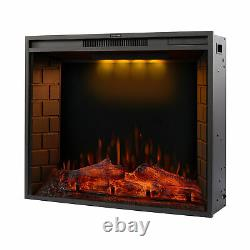 30''/50'' in-Wall Recessed Mount Electric Fireplace Insert LED Flame Fire Heater