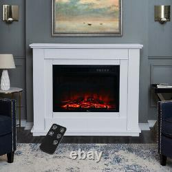30 Electric Fireplace LED Flame Inset Fire Surround Suite Stove Remote Control