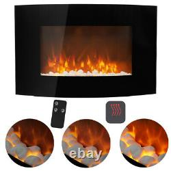 35/50 Inch Electric Fireplace Wall Mounted Large Electric Heater +Remote Control