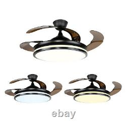 42 Modern Electric Reversal Ceiling Fan With LED Light Chandelier Living Room