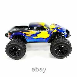 4WD RC Monster Truck Off-Road Vehicle 1/10 Remote Control Buggy Crawler Car Blue