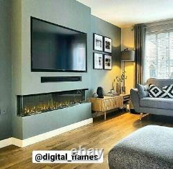 50 60 72 Inch Stunning Hd Panoramic Electric Fire 3 Sided Full Glass New 2021