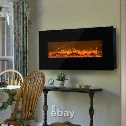 50 INCH Remote Control Electric Fire Fireplace 2KW LED Fire Place Heater Stove