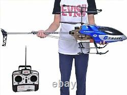 53 Inch Extra Large GT QS8006 2 Speed 3.5Ch RC Helicopter Builtin GYRO UK SELLER