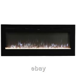 60 Electric Fireplace Insert 1520mm Wide Freestanding Fire Wall Recessed Heater