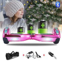 6.5 Inch Hoverboard Electric Scooter Self Balancing Board Bluetooth Pink