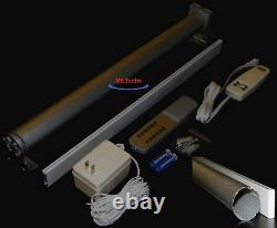 95 Remote controlled Electric motorized roller Shade rod tube with bottom bar