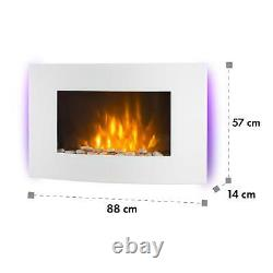 B-Stock Electric Fireplace Heater Modern Fire Flame Effect Wall Mounted Remote