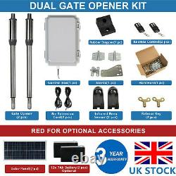 DC HOUSE Double Solar Gate Opener Door Kit Swing Electric Operator Up to 16ft