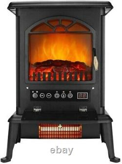 Ecological Electric Stove Fireplace Energy Saving LED Fire Heater Burning Logs