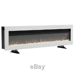 Electric 50 60 Insert/Wall Mounted LED Fireplace Wall Inset Into Fire Freestand