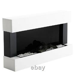 Electric Fire Wall Mounted 7 LED Flame Fireplace Surround Fire Suite Remote/Wifi