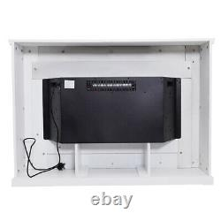 Electric Fireplace Inserted Home Living Heater White Frame & Fire Core+ Remote