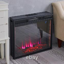 Electric Fireplace Wall/Inset 7 LED Flame Log Effect Fire Heater Remote Control