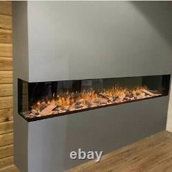 Electric Media wall Fire SF1500 60inch wide Panoramic HD+ 3/2/1sided glass
