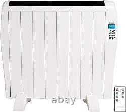 Electric Panel Heater Radiator Aluminium With Timer Convector 1.2KW Wall Mounted