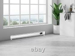 Electric Panel Heater Radiator Baseboard Skirting Convector Low Profile Timer