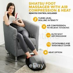 Electric Shiatsu Foot Massager Kneading Rolling Deep Tissue Massage Soothing LCD