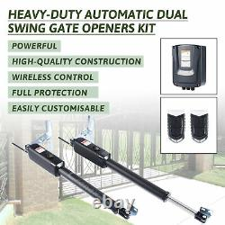 Electric Swing Gate Opener Push/Pull Gate with Remote Control Complete Kit 300kg
