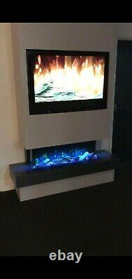 Electric fire SF1000 40wide 3/2/1sided glass Media wall fire