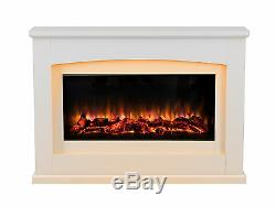 Endeavour Fires Danby Electric Fireplace in an Off White MDF fire suite