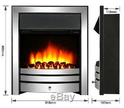 Endeavour Fires New Cayton Electric Fireplace Suite, Chrome Trim and Fret