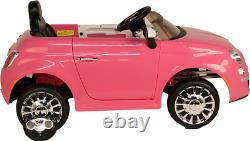 Fiat 500 Electric Ride On Car With Parental Remote Control Brand New