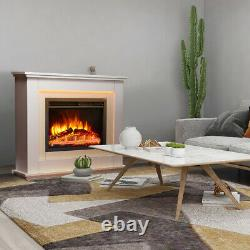 Fires Castleton Electric Fire Inset Fireplace Heater + Remote Control 7 Colour