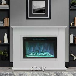 Fires Castleton Electric Fire Inset Fireplace Heater with Remote Control New