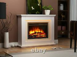Fires Castleton Electric Fireplace in an Off MDF fire suite WIth Remote Control