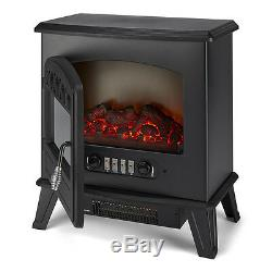 Galleon Fires CASTOR Electric Stove with remote -LED Log Flame Effect Black