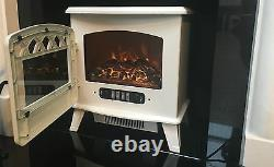 Galleon Fires Castor Electric Stove Remote LED LOG Flame Effect Fire Cream
