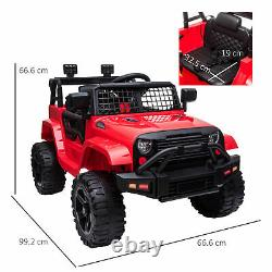 HOMCOM 12V Kids Electric Ride On Car Truck Off-road Toy with Remote Control Red