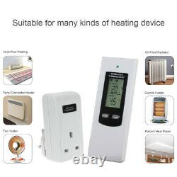 Infrared Panel Heater 600W Thermostat Control Wall Mounted Slimline Radiator