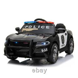 Kids Ride On 12v Electric Police Style Battery Remote Control 2.4g Toy Car