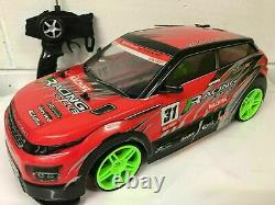 Large Range Sports 4wd Drift Rc Remote Control Car 1/10 Rechargeable 20mph Speed