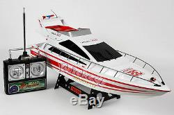 NEW HUGE White Remote Control RC HENG LONG Atlantic Racing Speed Boat Yacht RTR