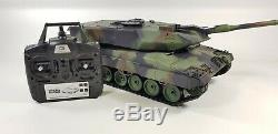 New 2.4G RC 116 Heng Long Leopard 2A6 Airsoft Tank Somking Remote Control Tank