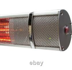 Patio Heater 3000W Garden 56179 Electric Outdoor Wall Mounted Golden Tube 3.0 kW