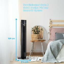 PureMate Oscillating 43-inch Cooling Tower Fan with Air Purifier Aroma Function