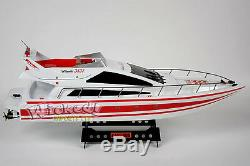 RC Speed Boat Atlantic Jacht X2 Racing Boat Remote Control Transmitter Ship RTR