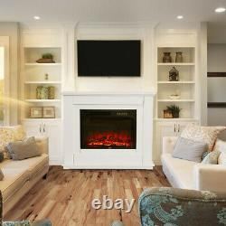 Remote Inset Fireplace And Fire Surround/Mantle Set Complete Electric Fireplace