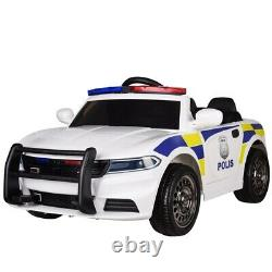 RiiRoo Police Pursuit 12V Electric Ride On Car With 2.4G Remote Control & Music