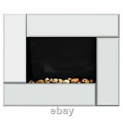 Wall Mount Electric Fireplace Heater With Remote Control Flame Effect 7 Day