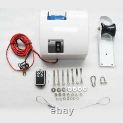 White Saltwater Electric Anchor Winch Set Boat Winch with Remote Control 25LBS
